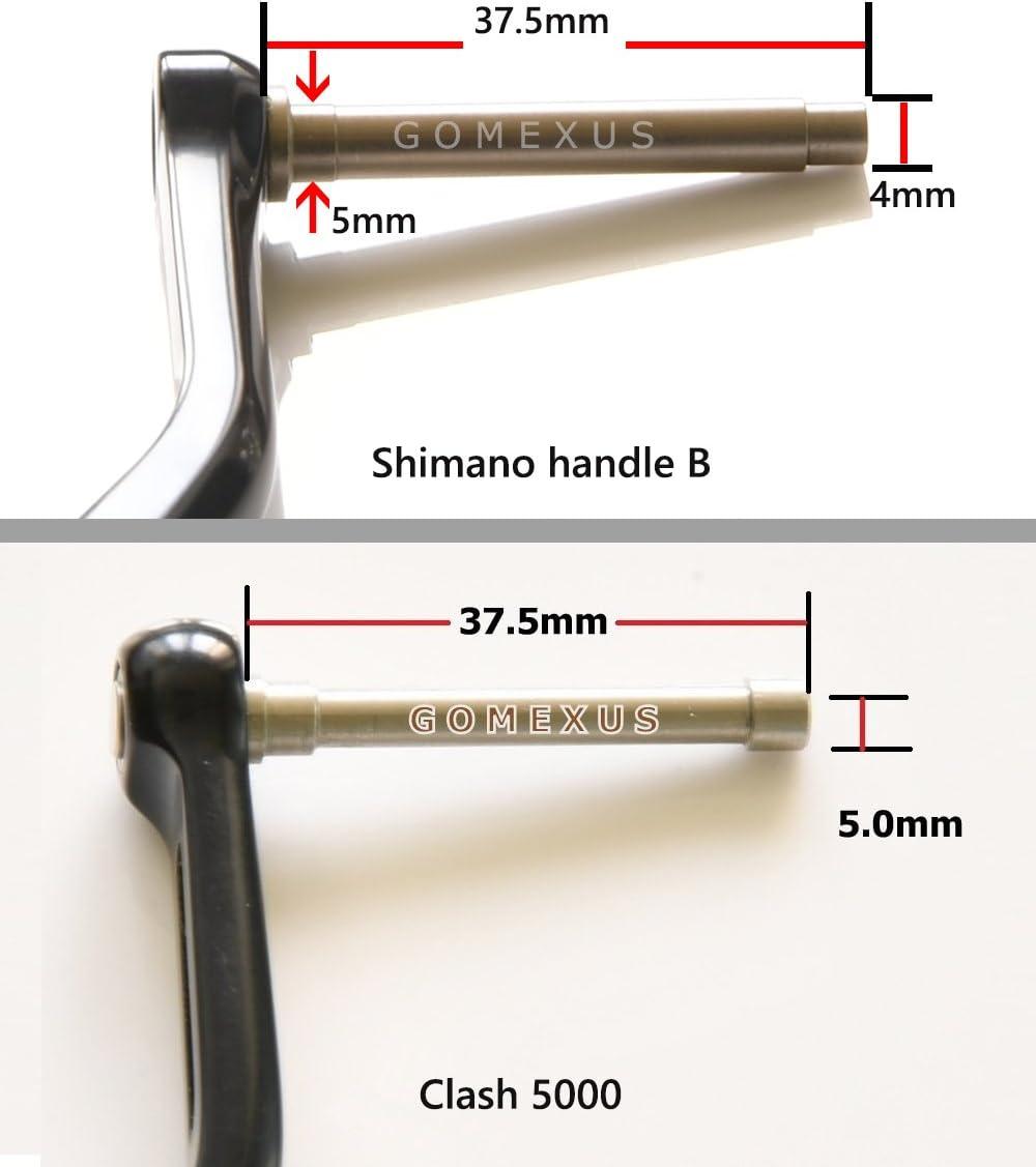 gomexus carrete Manivela para Shimano B rollo Mango 38 mm directa ...