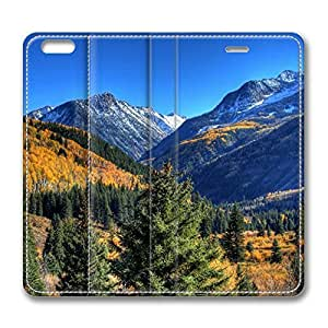 Autumn In Mountains 1 iPhone 6 Plus 5.5inch Leather Case, Personalized Protective Slim Fit Skin Cover For Iphone 6 Plus [Stand Feature] Flip Case Cover for New iPhone 6 Plus