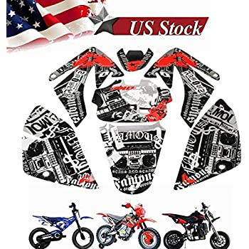 Compatible with Honda CRF70 CRF80 CRF100 Sticker Sets Wrap Plastic Sticker Kits Decal Graphic