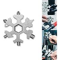 Cle outil multifonction, 15 en 1 en acier inoxydable multi-fonction de clés flocon de neige portables/ouvre-bouteille/tournevis pour le camping de voyage en plein air de outil