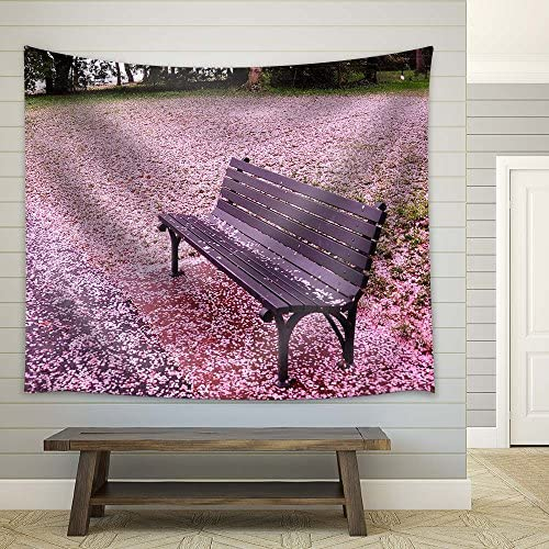 Bench with Cherry Petals