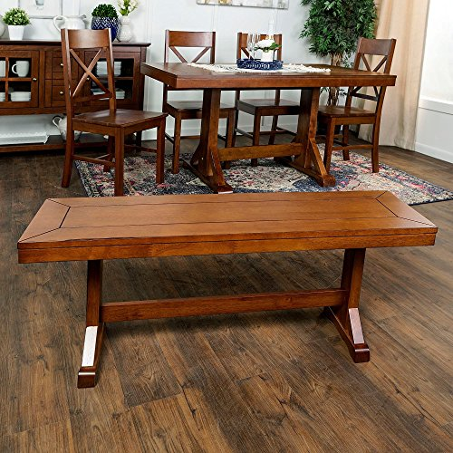 """48"""" Millwright Wood Dining Bench White"""