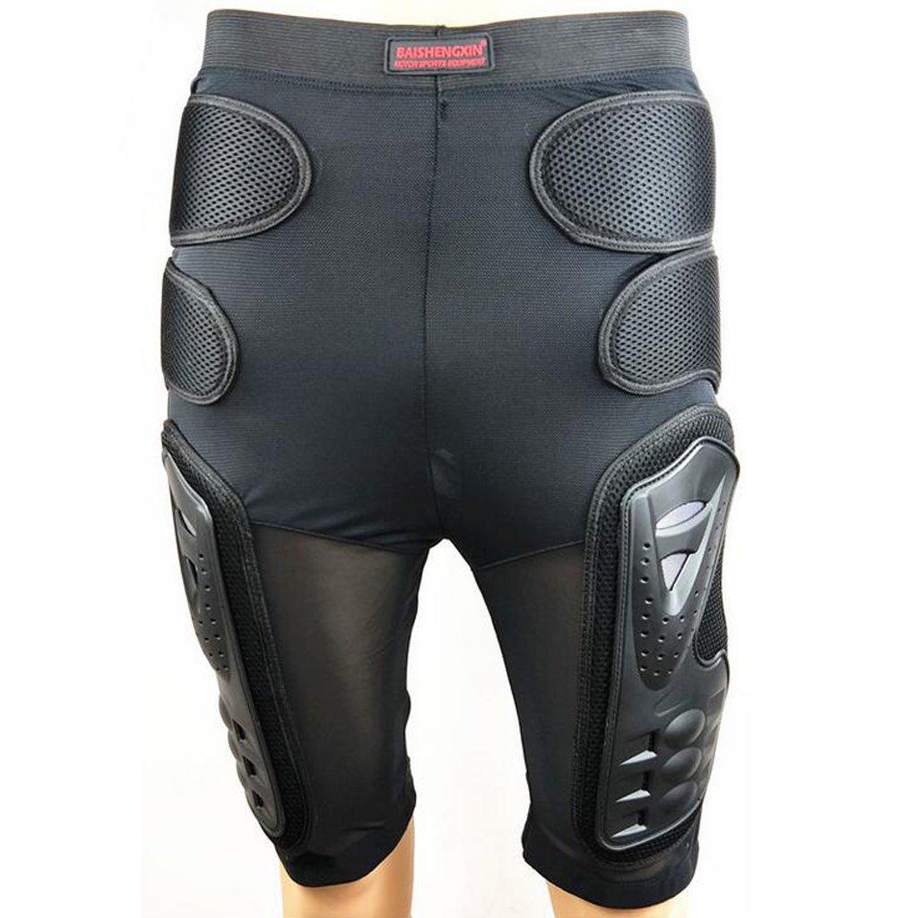 Nero Nero M Pantaloncini Protettivi Armatura Moto Corsa Ciclismo Motocross Snowboard