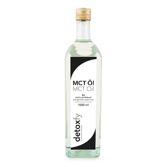 Aceite Detoxfy MCT, calidad premium (6 veces más fuerte que el aceite de coco