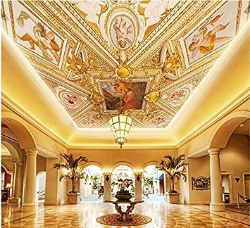 Wapel 3D Fototapete Tapeten Klassische Malerei Decke Kuppel 3D Tapete  Moderne Für Wohnzimmer Wandtapete Home Decoration