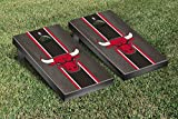 Chicago Bulls NBA Basketball Cornhole Game Set Onyx Stained Stripe Version