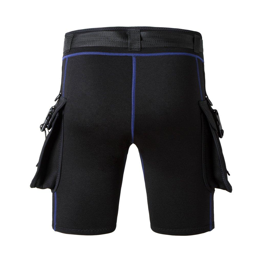 Homyl Shorts avec Poche en N/éopr/ène avec Boucle De Ceinture /à D/égagement Rapide Respirant Vetement De Natation Plong/ée sous-Marine Surf