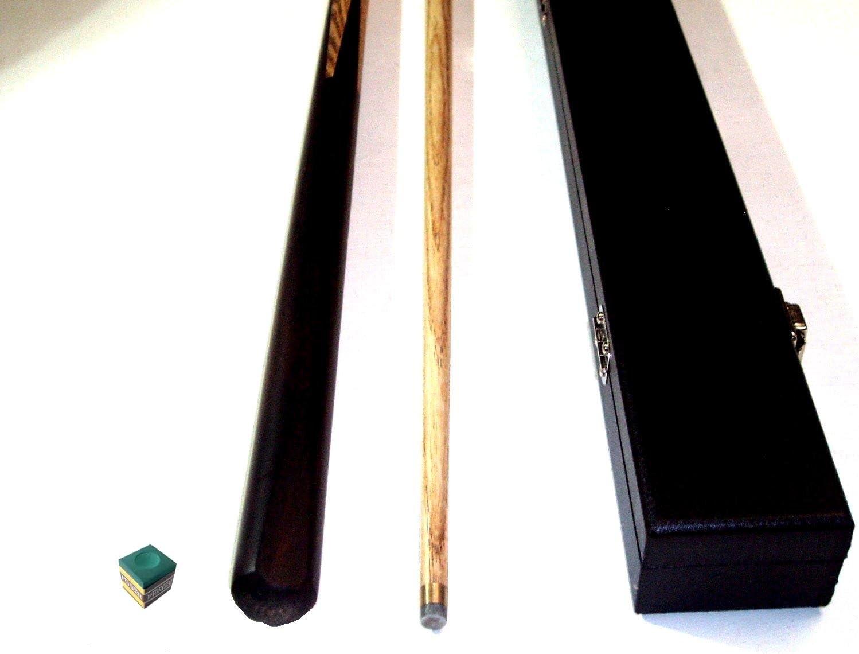 Palo de billar de 2 piezas (madera de fresno), incluye caja dura ...