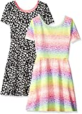 The Children's Place Big Girls' Casual Dresses (Pack of 2), Leopard 3749, L/10/12