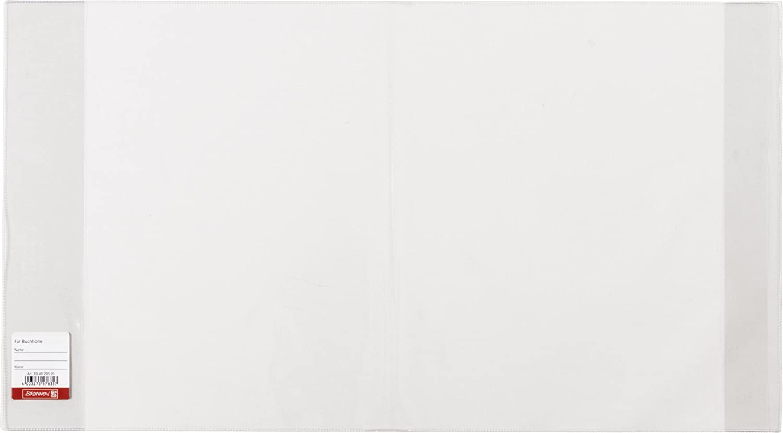 Brunnen 104023503 Buch-, Heftumschlag / Buchschoner (Buchhöhe 23,5 cm, 44,5 x 23,5 cm, mit Kantenschutz) transparent