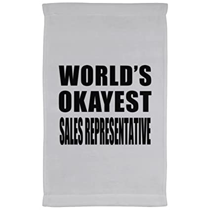 Okayest del mundo representante de ventas – terciopelo de microfibra toalla de cocina, toalla,