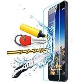 【国産ガラス素材】【riseシリーズ】Huawei MediaPad X1/X2 7.0 (Honor X1/Honor X2) 液晶保護強化ガラスフィルム 硬度9H 超薄0.33mm(総厚0.4mm) 2.5D ラウンドエッジ加工済 さらさら表面コート 指紋防止 防汚コーティング処理 飛散防止処理高品質ガラスフィルム