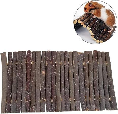 healingpie Hamster Puente de Escalera de Madera, Hamster Ratón Ratón Roedores Juguete Escalera Puente de Juguete, Juguete Molar de pequeños Animales: Amazon.es: Hogar
