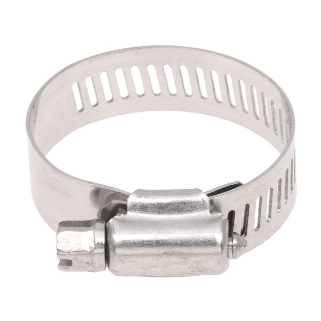 Cikuso 3 Pcs 21-38mm 5//6-1 1//2 pouce Clip de Tube reglable en acier inoxydable