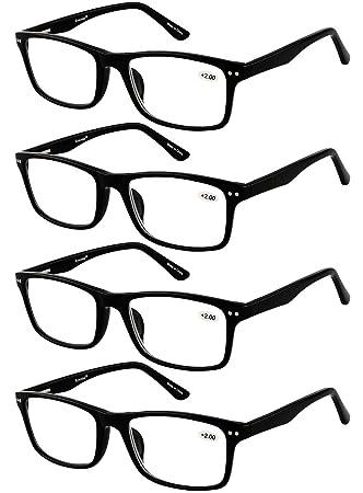 Amazon.com: Eyecedar 4-Pack Reading Glasses Men Flexible Material ...