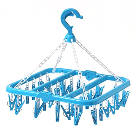 Clothes Dryer Hanging Plastic Laundry Drying Clothing 16 /& 20 Pegs Socks Dryer