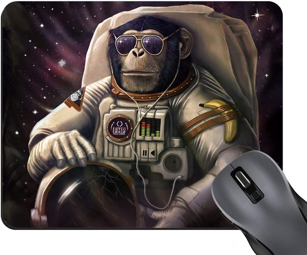 BWOOLL Gaming Mouse Pad, Space Astronaut Gorilla Design Mouse Pad, Non-Slip Rubber Base Mouse Pads for Laptop and Computer, Cute Design Desk Accessories