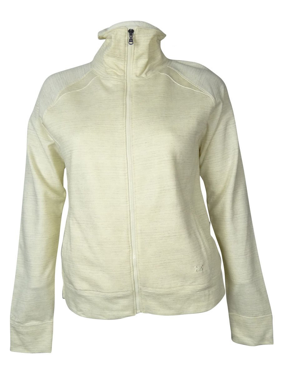 Under Armour Women's Charged Cotton Storm Marble Sherpa Full Zip X-Small TUSK by Under Armour