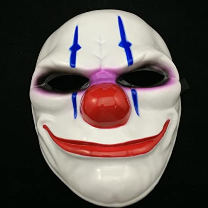 PVC Scary Clown Mask Payday 2 Halloween Mask For Antifaz Party Mascara