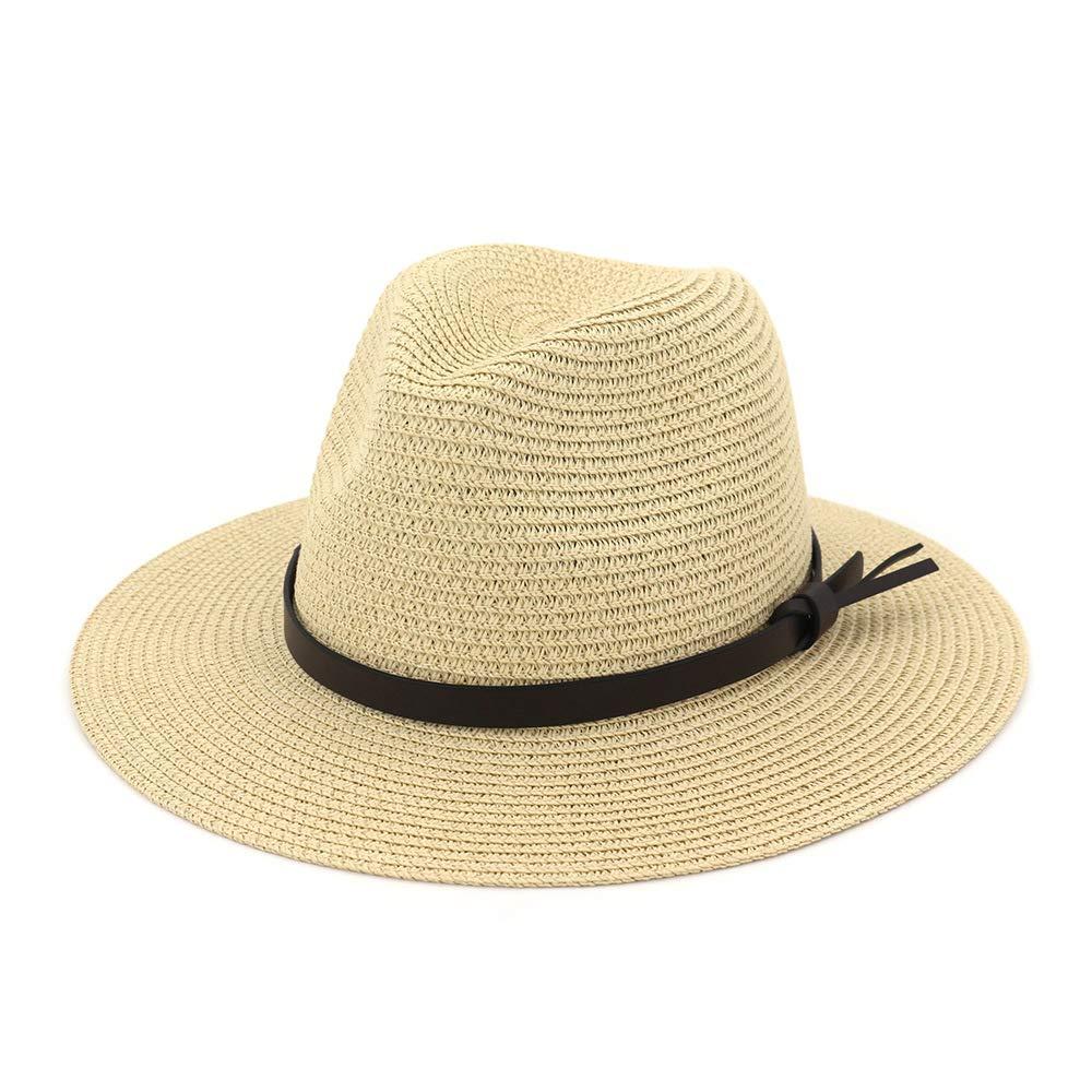 0a0662e4269ac EINSKEY Ladies Sun Hat Panama Straw Hat Packable Wide Brim Summer Beach Hat  Fedora Trilby Hat