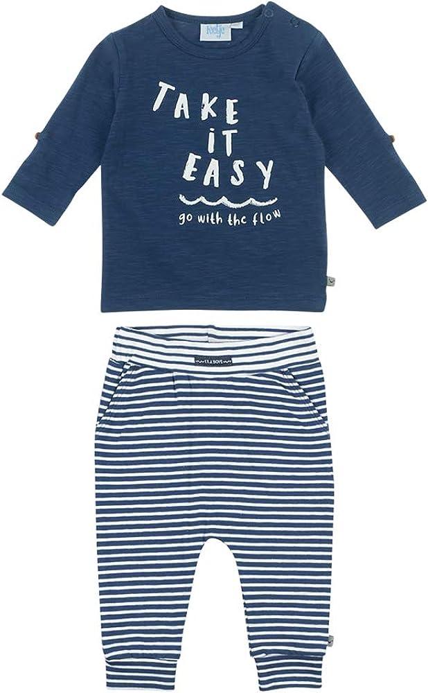 Marine-wei/ß Feetje Baby-Jungen Zweiteiliger Sweat-Anzug Take it Easy 80