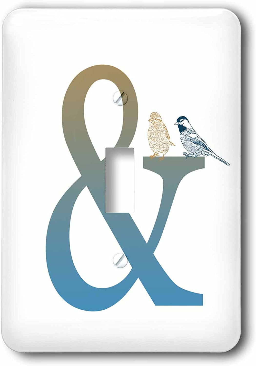 3drose Lsp 123572 1 Ampersand And With Birds Single Toggle Switch Wall Plates Amazon Com