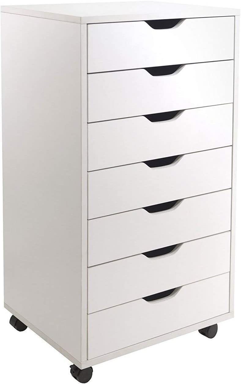 Winsome Wood Halifax 7-Drawer Cabinet White Finishes