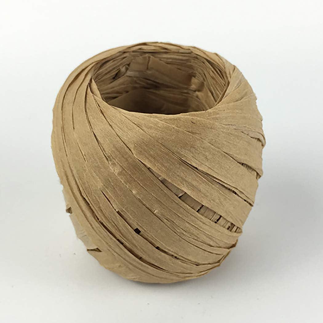 65.11ft Raffia Ribbon Multi-purpose DIY Decorative Paper Ribbon Craft Ribbon Paper Cords Paper Craft Ribbon Twine Ropes Raffia Twine Paper