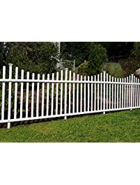 Zippity Outdoor Products Manchester Semi Permanent Vinyl Fence Kit (2  Pack), 42