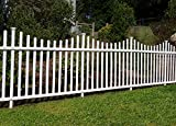 Zippity Outdoor Products Manchester Semi-Permanent Vinyl Fence Kit (2 Pack), 42'' x 92''
