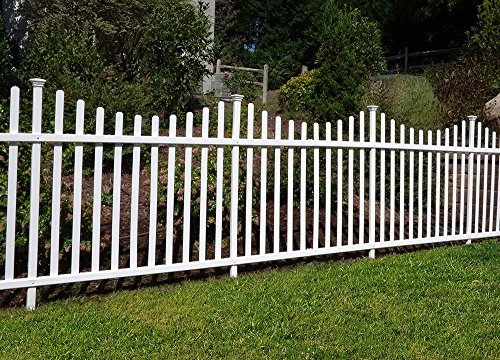 Zippity Outdoor Products Manchester Semi-Permanent Vinyl Fence Kit (2 Pack), 42'' x 92'' by Zippity Outdoor Products