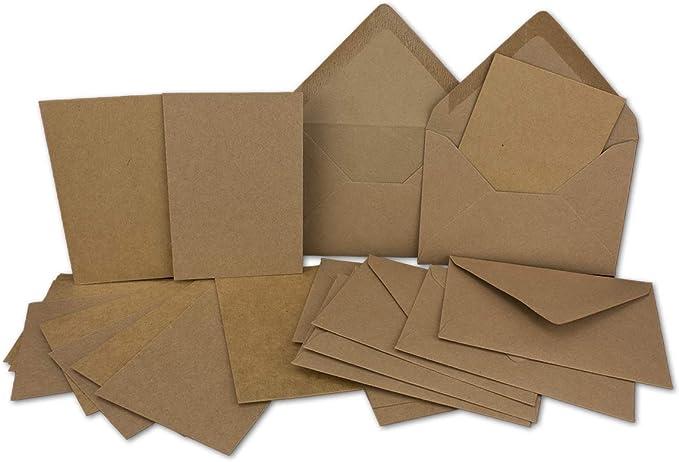 Glückwunschkarten Folia Doppelkarten Set rehbraun 105 x 150 mm Grußkarten