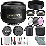 Nikon AF-S DX NIKKOR 35mm f/1.8G Lens, Deluxe Accessory Bundle W/ 58mm Wide-angle & Telephoto Lens + Filter Kit + Lens Pouch Xpix Professional Handling Accessories