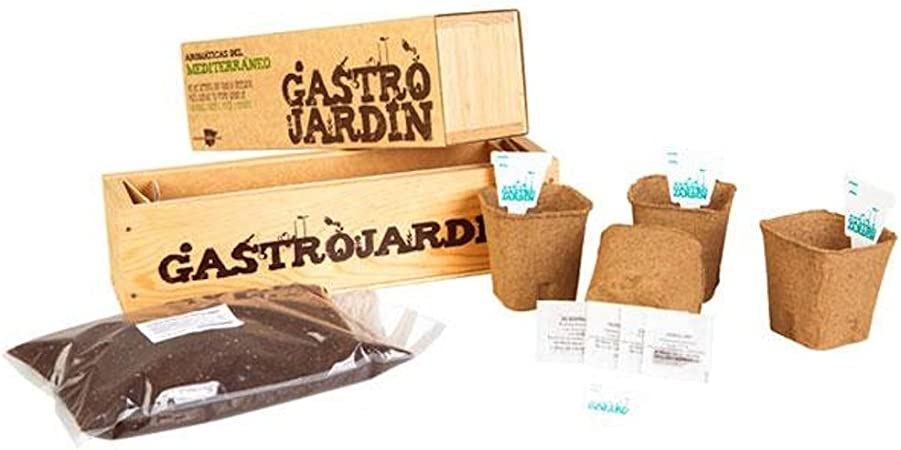 GastroJardín - Kit de siembra aromáticas del Mediterráneo: Amazon ...