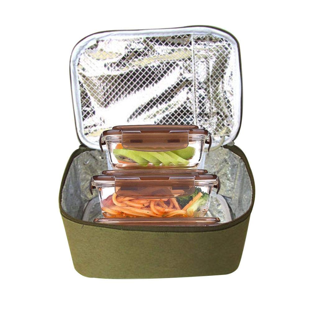 Bolsa de Almuerzo Almuerzo Bento Bolsa de USB Aislamiento Té rmica Elé ctrica Lonchera Calefacció n collar.y