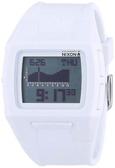 Nixon - Reloj Digital de Cuarzo unisex, correa de Plástico color Blanco: Amazon.es: Relojes