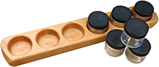 product image for Camden Rose Cherry Wood Six Jar Paint Holder