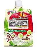 マンナンライフ 大粒アロエinクラッシュタイプの蒟蒻畑 りんご味 150g×30個