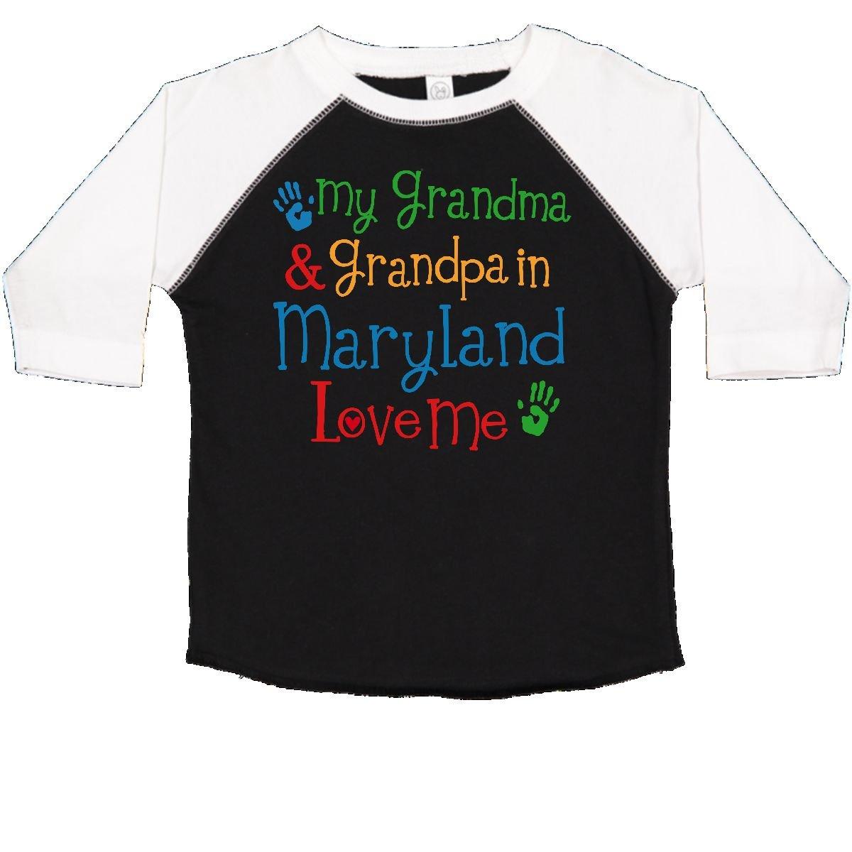 inktastic Grandma Grandpa Love Me Girls Toddler T-Shirt