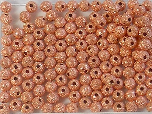 Copper Plated Brass Stardust Beads 4mm Package of 140 Metal Spacer Rockin Beads (Stardust Spacer)