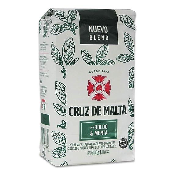 Yerba mate Cruz de Malta menta y boldo 500gr: Amazon.es ...