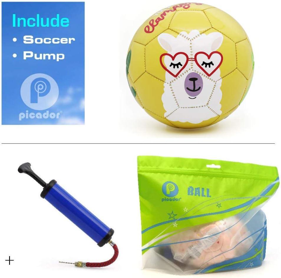 Kindergarten Girls Boys PP PICADOR Toddler Soft Soccer Ball Cute Cartoon Kids Ball with Pump Toy Gift for Kids Children