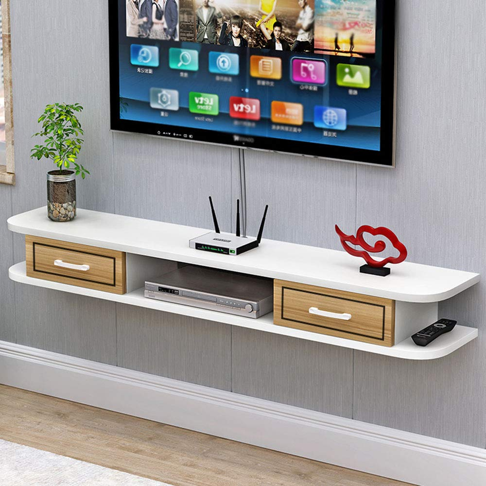 Modern Wall-Mounted TV Cabinet, Living Room Bedroom Set-top Box Shelf, TV Background Wall Decoration Multi-Function Rack by wall shelf
