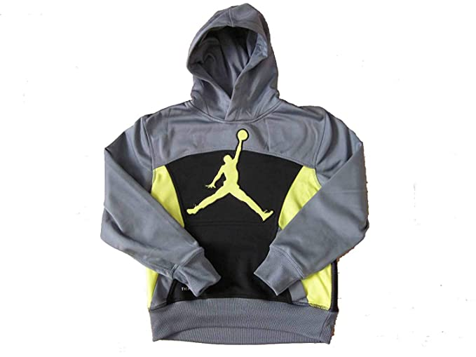 6a7e9430a88ebf Amazon.com  Nike Air Jordan Boy s Therma-Fit Athletic Hoodie  Sports ...