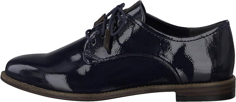Tamaris Femme Chaussures de Ville à Lacets 23203-24, Dame Chaussures d\'affaires Navy Patent Bleu