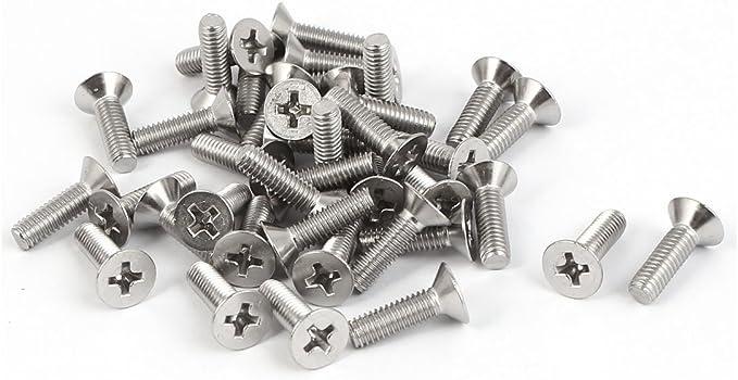 cSeao 100pcs M4 x 16mm 304 Stainless Steel Truss Phillips Head Machine Screws