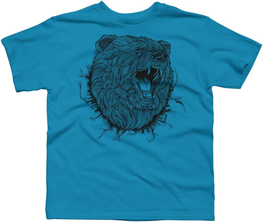 ANGRY BEAR Boys Youth Graphic T Shirt Design By Humans
