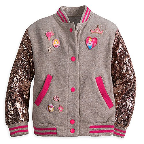 Disney Princess Sequined Varsity Jacket for Girls Size 7/8 (Disney Varsity Jacket)