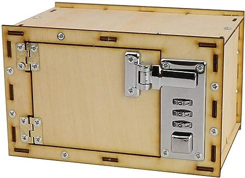 Beetest ES DIY Contraseña mecánica Caja de Seguridad Kits de construcción Modelo Hucha para niños Niños Ciencia Proyectos Suministros Cumpleaños Navidad Día de Año Regalos: Amazon.es: Juguetes y juegos