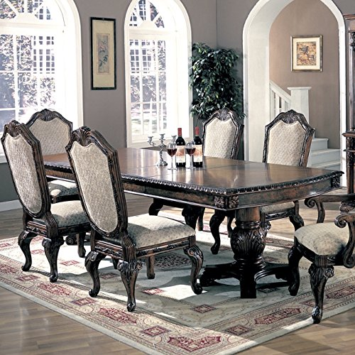 Table Cherry Deep (Saint Charles Dining Table with Double Pedestal Deep Brown)